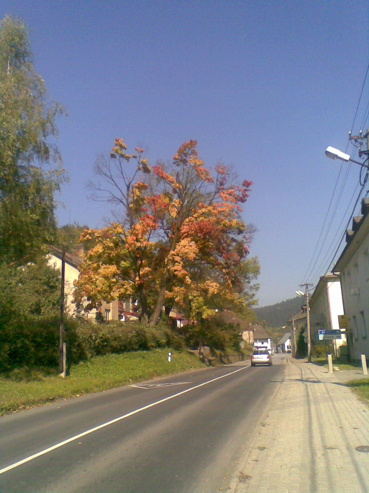 Oravský Podzámok na jeseň
