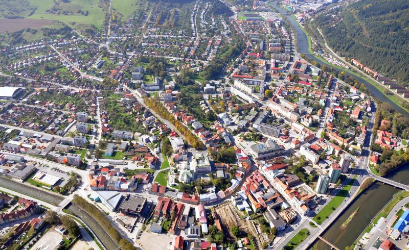 Letecký pohľad na Ružomberok