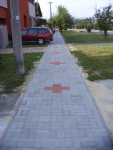 JABLONICA - Chodník na ulici Červenej armády Jablonica