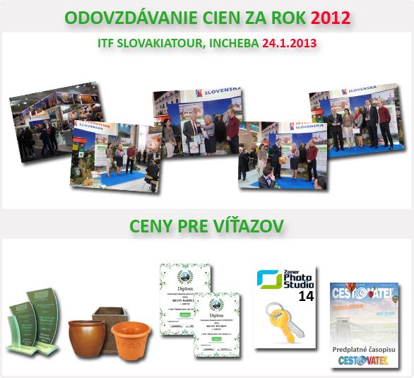 Odovzdávanie cien za rok 2012