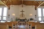 evanjelický kostol interiér