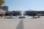 fontána na námestí v centre mesta Snina