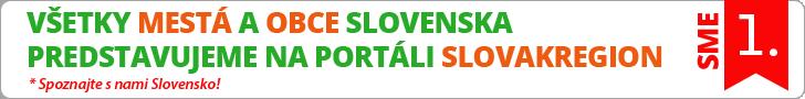 Všetky mestá a obce Slovenska predstavujeme na portáli SLOVAKREGION
