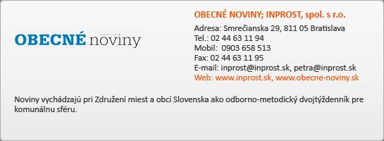 OBECNÉ NOVINY - INPROST, spol. s.r.o.