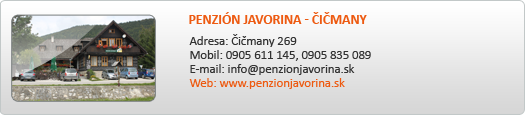 PENZION JAVORINA - ČIČMANY