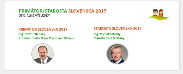 OFICIÁLNE VÝSLEDKY - PRIMÁTOR/STAROSTA SLOVENSKA 2017