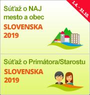 """Súťaže """"NAJ mesto a obec Slovenska 2019"""" a """"Primátor/Starosta Slovenska 2019"""""""