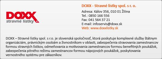 DOXX - Stravné lístky spol. s.r.o.