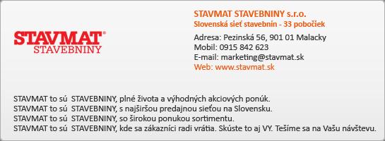 STAVMAT STAVEBNINY s.r.o.