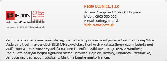 Rádio BOJNICE, s.r.o.