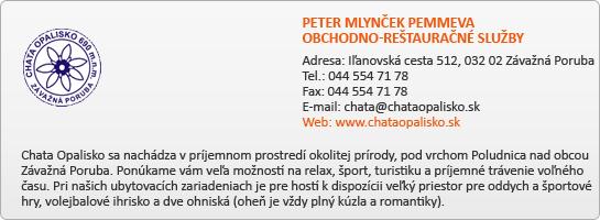 PETER MLYNČEK PEMMEVA OBCHODNO-REŠTAURAČNÉ SLUŽBY