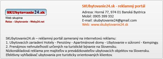 SKUbytovanie24.sk - reklamný portál