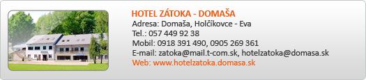 HOTEL ZÁTOKA - DOMAŠA