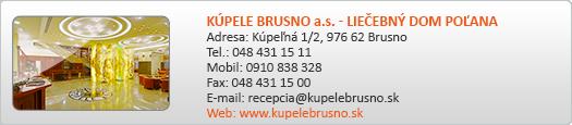 KÚPELE BRUSNO a.s. - LIEČEBNÝ DOM POĽANA