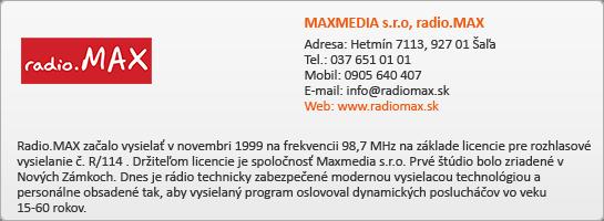 MAXMEDIA s.r.o, radio.MAX