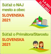 """Súťaže """"NAJ mesto a obec Slovenska 2021"""" a """"Primátor/Starosta Slovenska 2021"""""""