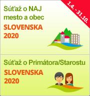 """Súťaže """"NAJ mesto a obec Slovenska 2020"""" a """"Primátor/Starosta Slovenska 2020"""""""